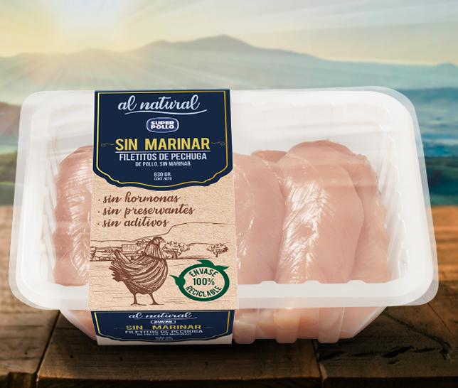 nuevo envase productos al natural super pollo