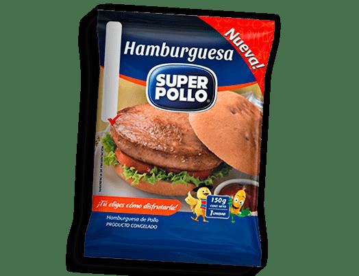 hamburguesa de pollo super pollo