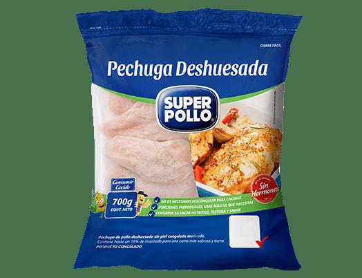 pechuga deshuesada congelado super pollo