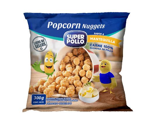 popcorn nuggets mantequilla super pollo