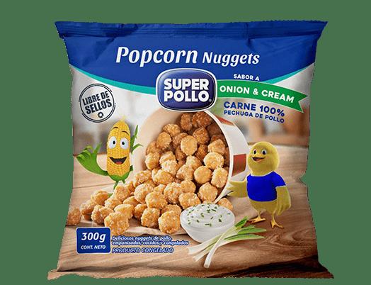popcorn nuggets onion cream super pollo
