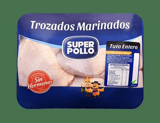 tuto entero en trozados marinados super pollo