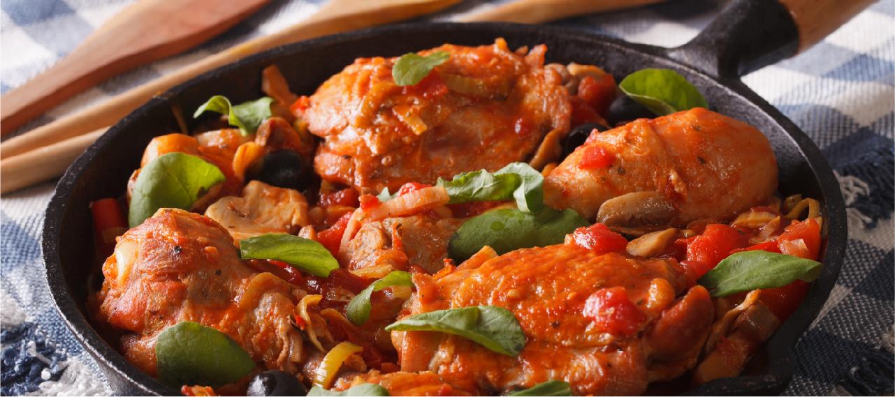 Pollo guisado en tomate y cerveza